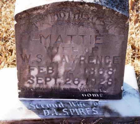 LAWRENCE, MATTIE - Grant County, Arkansas | MATTIE LAWRENCE - Arkansas Gravestone Photos