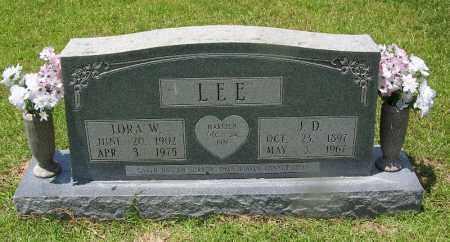 LEE, LORA W - Grant County, Arkansas | LORA W LEE - Arkansas Gravestone Photos