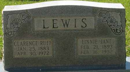LEWIS, CLARENCE RUFF - Grant County, Arkansas | CLARENCE RUFF LEWIS - Arkansas Gravestone Photos