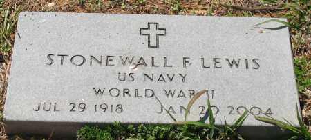 LEWIS (VETERAN 2 WARS), STONEWALL F - Grant County, Arkansas | STONEWALL F LEWIS (VETERAN 2 WARS) - Arkansas Gravestone Photos