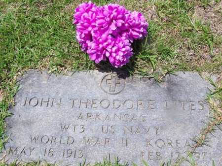 LITES (VETERAN 2 WARS), JOHN THEODORE - Grant County, Arkansas | JOHN THEODORE LITES (VETERAN 2 WARS) - Arkansas Gravestone Photos