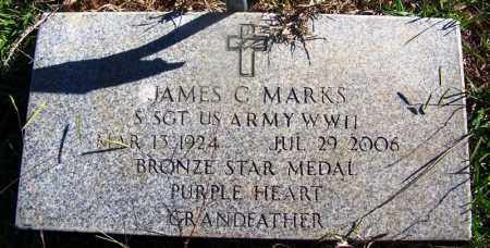 MARKS (VETERAN WWII), JAMES C - Grant County, Arkansas | JAMES C MARKS (VETERAN WWII) - Arkansas Gravestone Photos