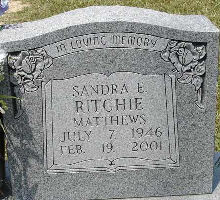 MATTHEWS, SANDRA RITCHIE - Grant County, Arkansas | SANDRA RITCHIE MATTHEWS - Arkansas Gravestone Photos