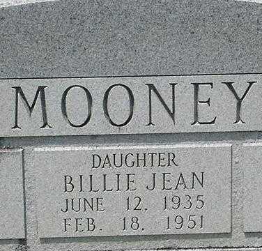 MOONEY, BILLIE JEAN - Grant County, Arkansas | BILLIE JEAN MOONEY - Arkansas Gravestone Photos