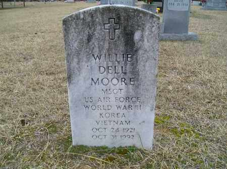 MOORE  (VETERAN 3 WARS), WILLIE DELL - Grant County, Arkansas | WILLIE DELL MOORE  (VETERAN 3 WARS) - Arkansas Gravestone Photos