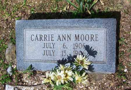 MOORE, CARRIE ANN - Grant County, Arkansas   CARRIE ANN MOORE - Arkansas Gravestone Photos
