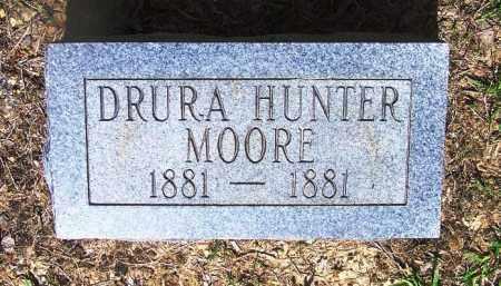 MOORE, DRURA HUNTER - Grant County, Arkansas   DRURA HUNTER MOORE - Arkansas Gravestone Photos