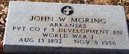 MORING (VETERAN WWI), JOHN W - Grant County, Arkansas | JOHN W MORING (VETERAN WWI) - Arkansas Gravestone Photos
