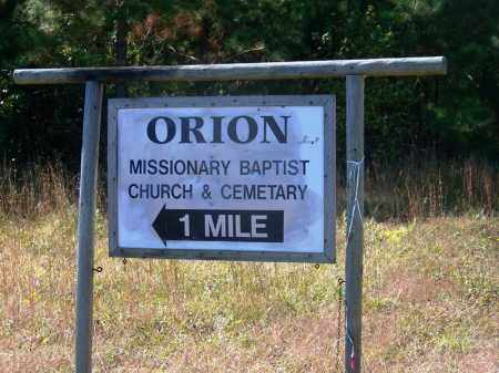 *ORION CEMETERY ROAD SIGN,  - Grant County, Arkansas |  *ORION CEMETERY ROAD SIGN - Arkansas Gravestone Photos