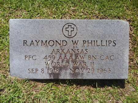 PHILLIPS  (VETERAN WWII), RAYMOND W - Grant County, Arkansas   RAYMOND W PHILLIPS  (VETERAN WWII) - Arkansas Gravestone Photos