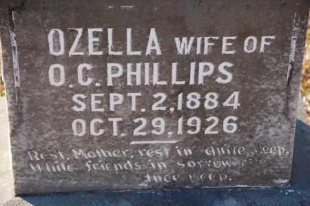PHILLIPS, OZELLA - Grant County, Arkansas   OZELLA PHILLIPS - Arkansas Gravestone Photos