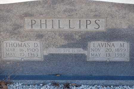 PHILLIPS, THOMAS D - Grant County, Arkansas | THOMAS D PHILLIPS - Arkansas Gravestone Photos