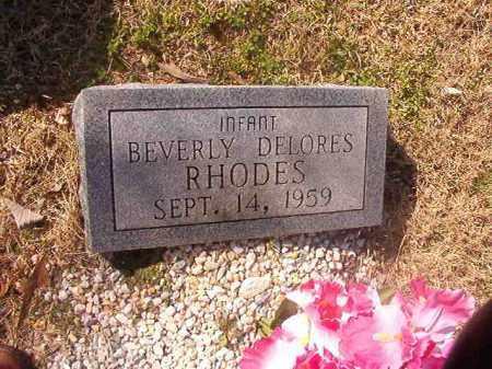 RHODES, BEVERLY DELORES - Grant County, Arkansas | BEVERLY DELORES RHODES - Arkansas Gravestone Photos