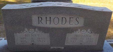 RHODES, MODENA - Grant County, Arkansas | MODENA RHODES - Arkansas Gravestone Photos