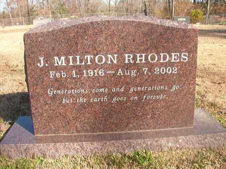 RHODES, J MILTON - Grant County, Arkansas | J MILTON RHODES - Arkansas Gravestone Photos