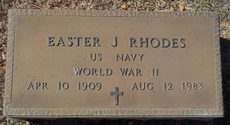 RHODES (VETERAN WWII), EASTER J - Grant County, Arkansas | EASTER J RHODES (VETERAN WWII) - Arkansas Gravestone Photos