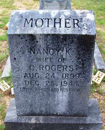 ROGERS, NANCY K - Grant County, Arkansas | NANCY K ROGERS - Arkansas Gravestone Photos