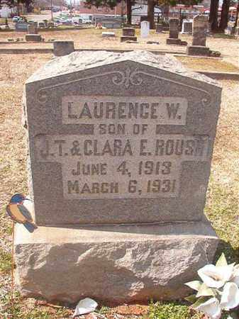 ROUSH, LAURENCE W - Grant County, Arkansas | LAURENCE W ROUSH - Arkansas Gravestone Photos