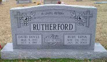 RUTHERFORD, RUBY EDNA - Grant County, Arkansas | RUBY EDNA RUTHERFORD - Arkansas Gravestone Photos