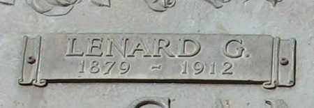 SANFORD, LENARD G. (CLOSEUP) - Grant County, Arkansas | LENARD G. (CLOSEUP) SANFORD - Arkansas Gravestone Photos