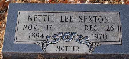 SEXTON, NETTIE LEE - Grant County, Arkansas   NETTIE LEE SEXTON - Arkansas Gravestone Photos