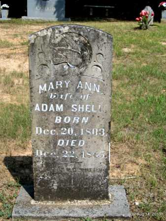 SHELL, MARY ANN - Grant County, Arkansas | MARY ANN SHELL - Arkansas Gravestone Photos