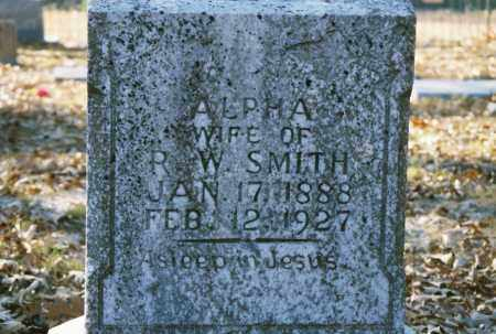 TULL SMITH, ALPHA - Grant County, Arkansas | ALPHA TULL SMITH - Arkansas Gravestone Photos