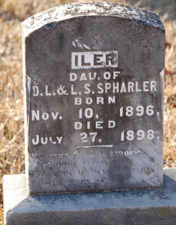 SPHARLER, ILER - Grant County, Arkansas | ILER SPHARLER - Arkansas Gravestone Photos