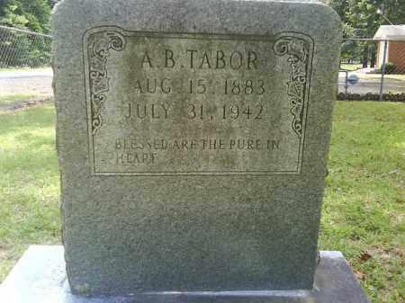 TABOR, A. B. - Grant County, Arkansas   A. B. TABOR - Arkansas Gravestone Photos