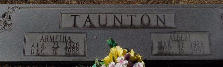 TAUNTON, ALBERT - Grant County, Arkansas | ALBERT TAUNTON - Arkansas Gravestone Photos