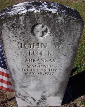 TUCK (VETERAN), JOHN W - Grant County, Arkansas | JOHN W TUCK (VETERAN) - Arkansas Gravestone Photos