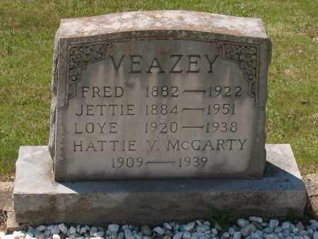 LADD VEAZEY, SARAH JETTIE - Grant County, Arkansas | SARAH JETTIE LADD VEAZEY - Arkansas Gravestone Photos
