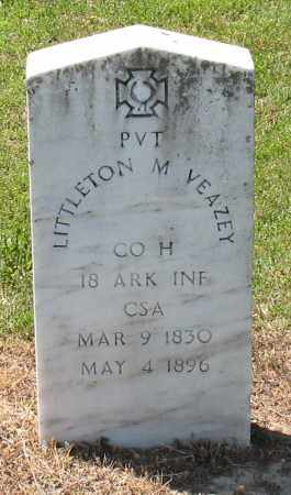 VEAZEY (VETERAN CSA), LITTLETON M - Grant County, Arkansas | LITTLETON M VEAZEY (VETERAN CSA) - Arkansas Gravestone Photos