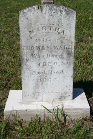 WARD, MARTHA - Grant County, Arkansas | MARTHA WARD - Arkansas Gravestone Photos