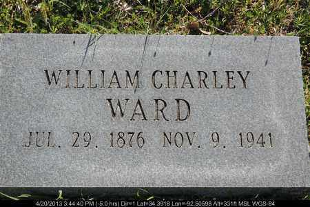 WARD, WILLIAM CHARLEY - Grant County, Arkansas   WILLIAM CHARLEY WARD - Arkansas Gravestone Photos