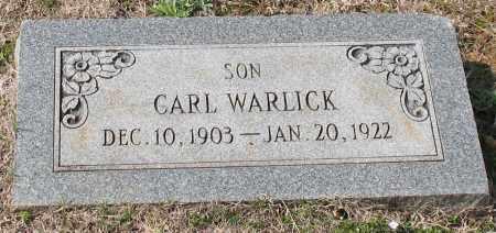 WARLICK, CARL - Grant County, Arkansas | CARL WARLICK - Arkansas Gravestone Photos