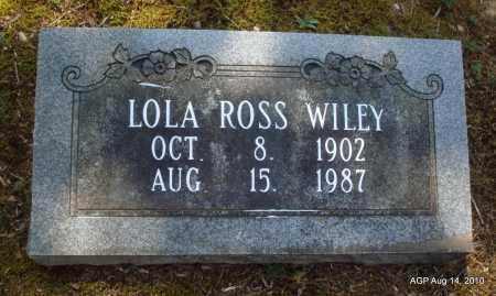 ROSS WILEY, LOLA - Grant County, Arkansas | LOLA ROSS WILEY - Arkansas Gravestone Photos