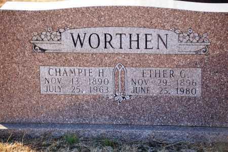 WORTHEN, ETHER G - Grant County, Arkansas | ETHER G WORTHEN - Arkansas Gravestone Photos