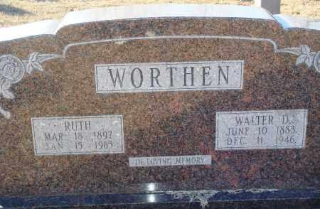 WORTHEN, WALTER D - Grant County, Arkansas | WALTER D WORTHEN - Arkansas Gravestone Photos