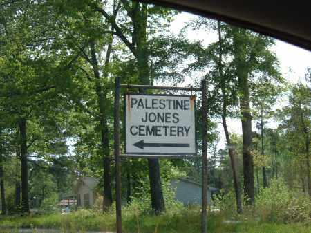 *PALESTINE JONES ENTRANCE SIGN,  - Grant County, Arkansas |  *PALESTINE JONES ENTRANCE SIGN - Arkansas Gravestone Photos