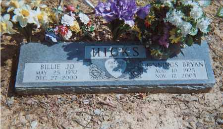 HICKS, BILLIE JO - Grant County, Arkansas | BILLIE JO HICKS - Arkansas Gravestone Photos