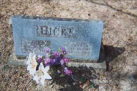 HICKS, MINNIE - Grant County, Arkansas | MINNIE HICKS - Arkansas Gravestone Photos