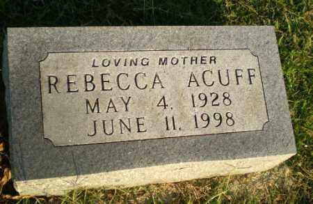 ACUFF, REBECCA - Greene County, Arkansas | REBECCA ACUFF - Arkansas Gravestone Photos