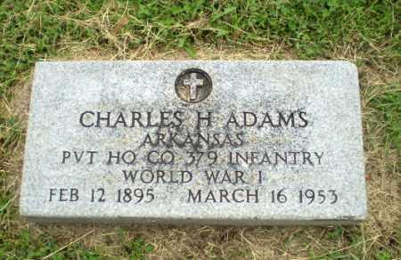 ADAMS  (VETERAN WWI), CHARLES H - Greene County, Arkansas | CHARLES H ADAMS  (VETERAN WWI) - Arkansas Gravestone Photos