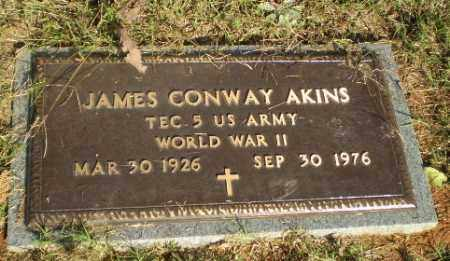 AKINS  (VETERAN WWII), JAMES CONWAY - Greene County, Arkansas | JAMES CONWAY AKINS  (VETERAN WWII) - Arkansas Gravestone Photos