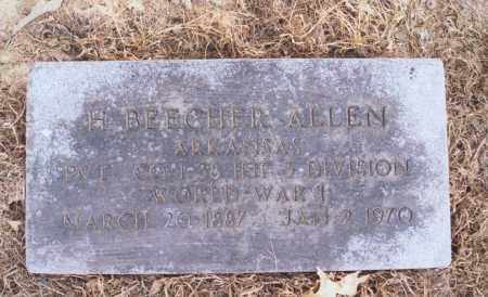 ALLEN, H. [HARRY] BEECHER - Greene County, Arkansas | H. [HARRY] BEECHER ALLEN - Arkansas Gravestone Photos
