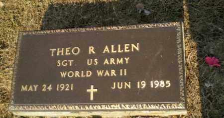 ALLEN (VETERAN WWII), THEO R - Greene County, Arkansas | THEO R ALLEN (VETERAN WWII) - Arkansas Gravestone Photos