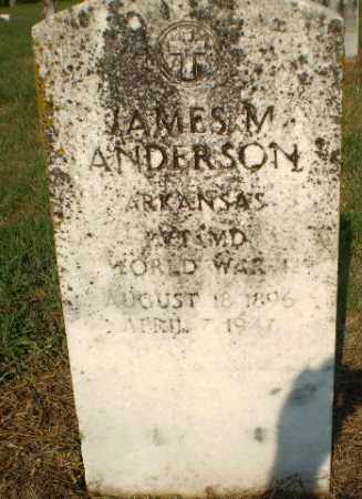ANDERSON  (VETERAN WWI), JAMES M - Greene County, Arkansas | JAMES M ANDERSON  (VETERAN WWI) - Arkansas Gravestone Photos
