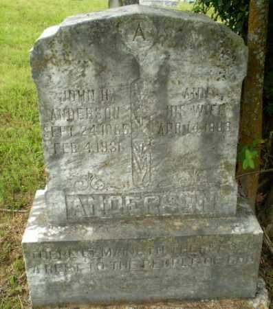 ANDERSON, JOHN H - Greene County, Arkansas | JOHN H ANDERSON - Arkansas Gravestone Photos