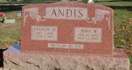ANDIS, JOHN WILLIAM - Greene County, Arkansas | JOHN WILLIAM ANDIS - Arkansas Gravestone Photos